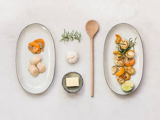 Perfect pan seared scallops
