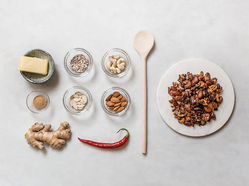 Spicy nut mixture