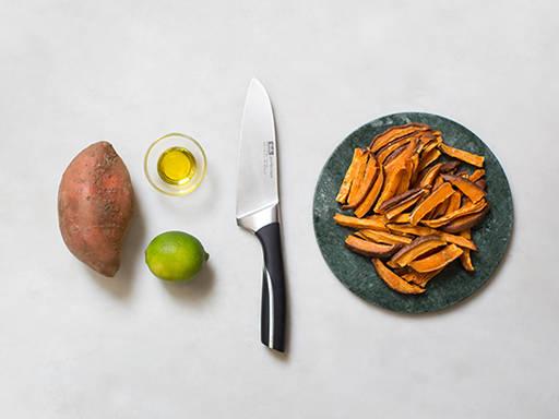 Hausgemachte Süßkartoffel Pommes