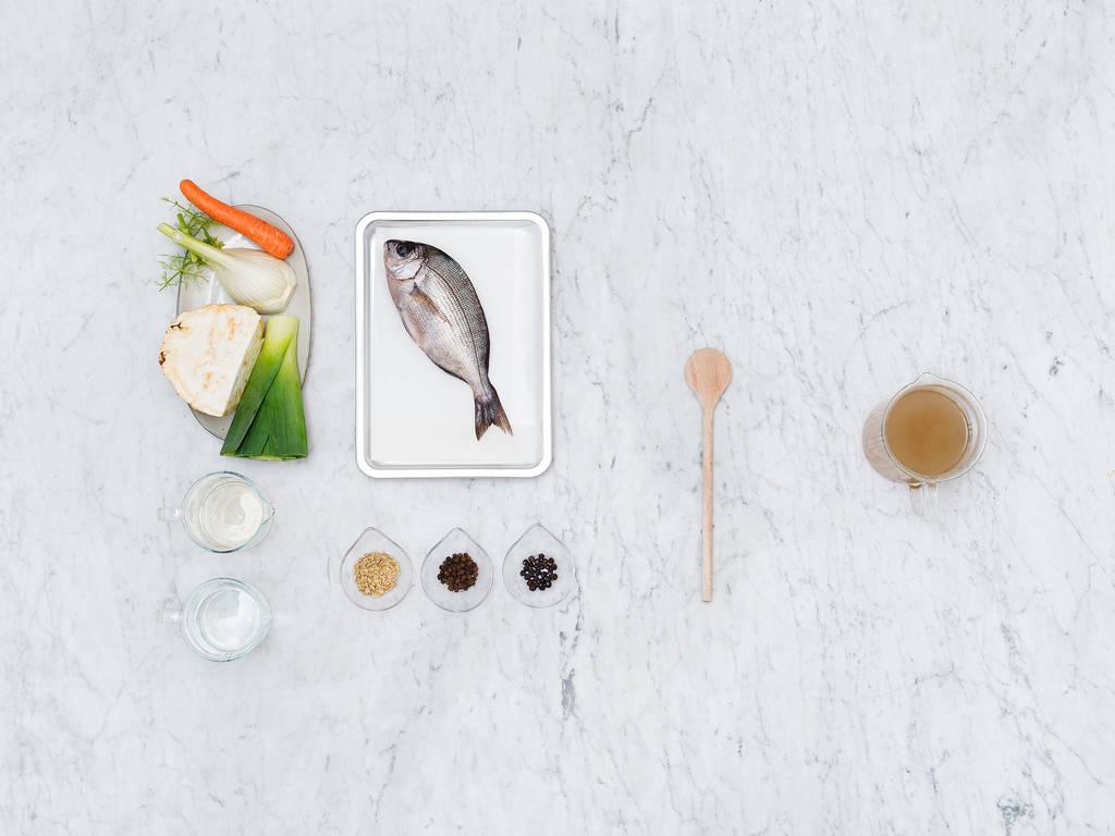 Homemade fish stock