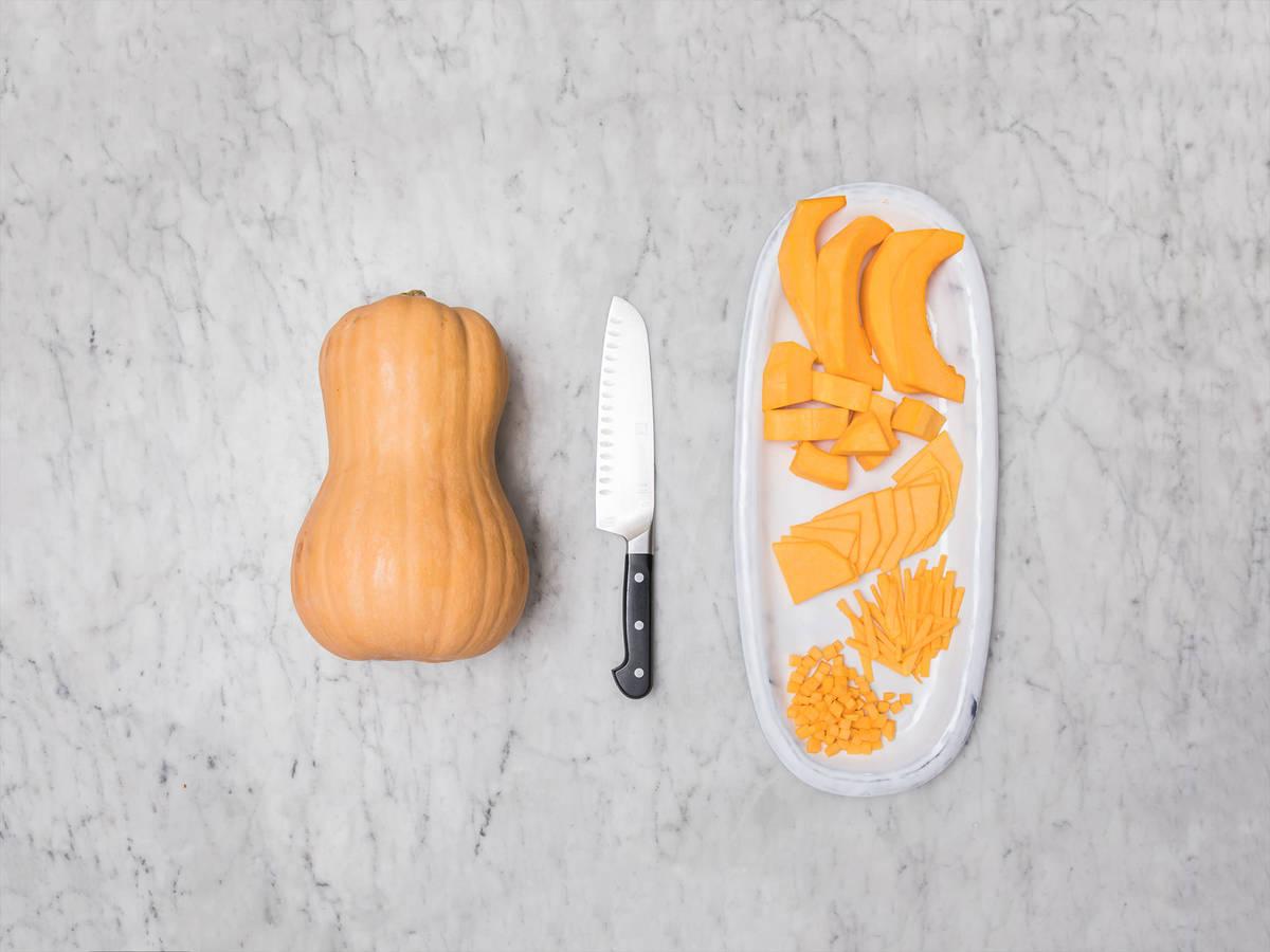 Butternusskürbis richtig schneiden
