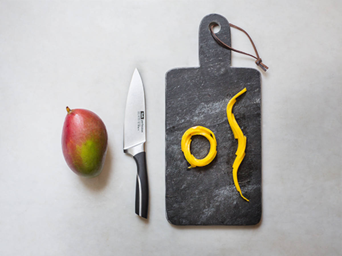 Mango dekorativ schneiden