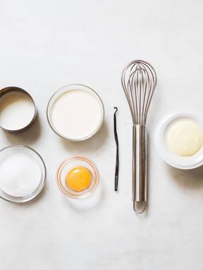 Hausgemachte Vanillesoße