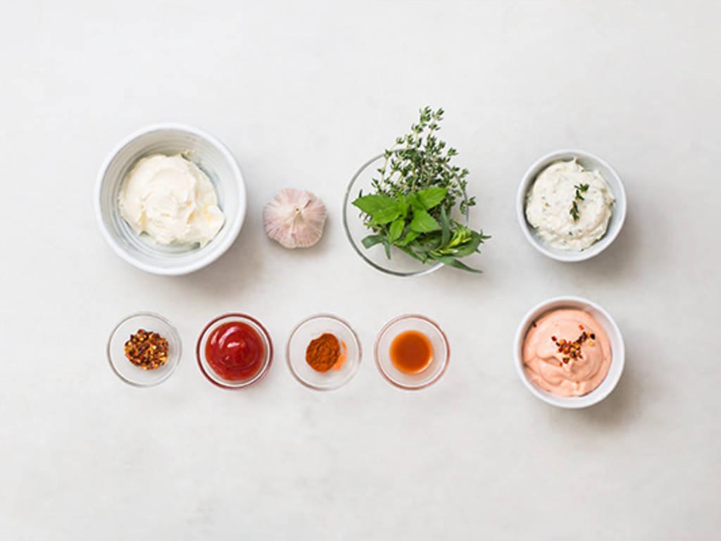 Hausgemachte Joghurt-Dips