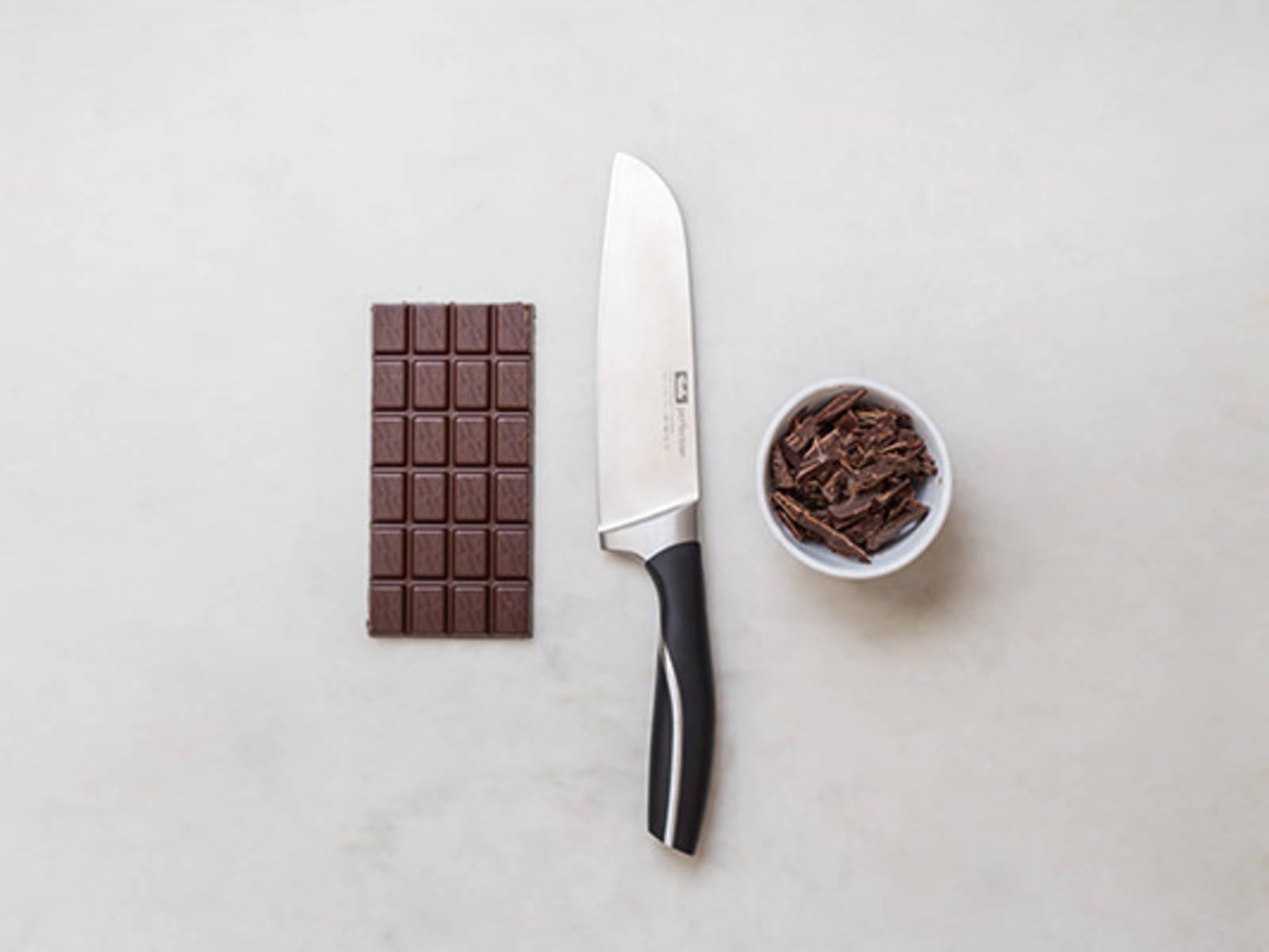 如何切碎巧克力