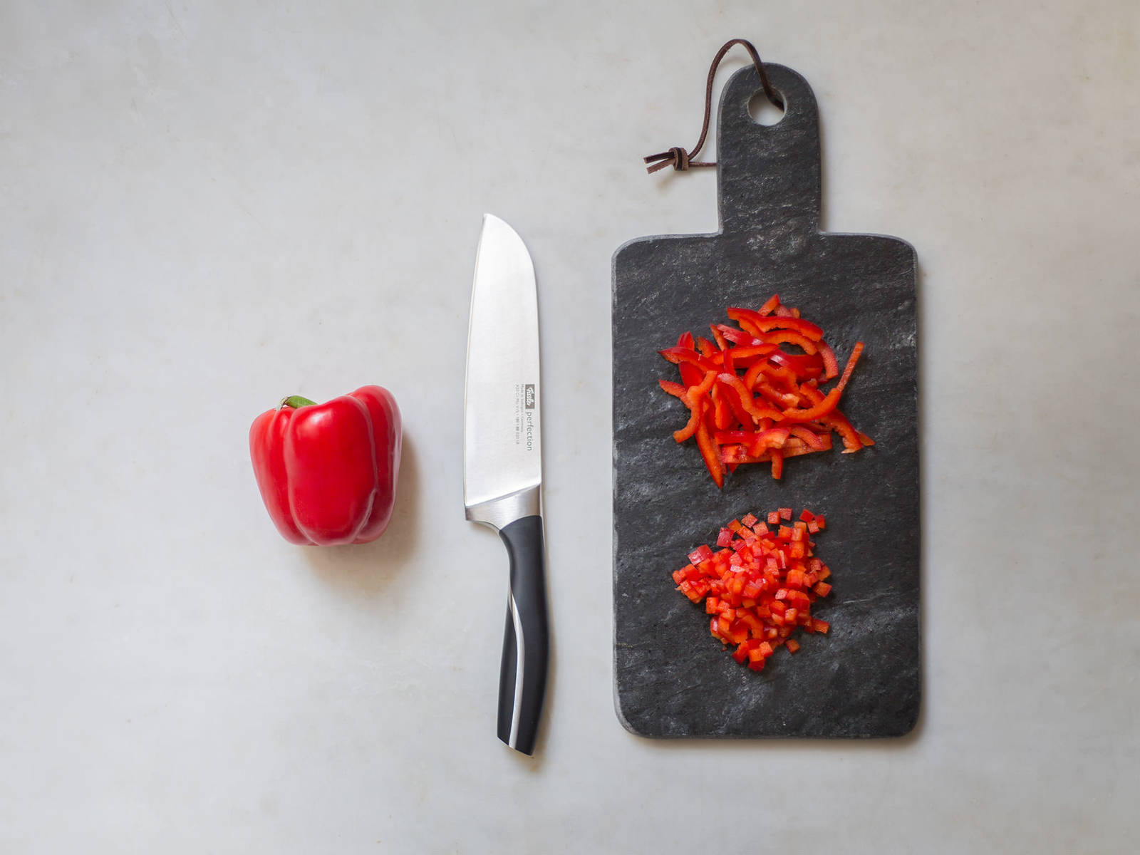 Paprika richtig schneiden