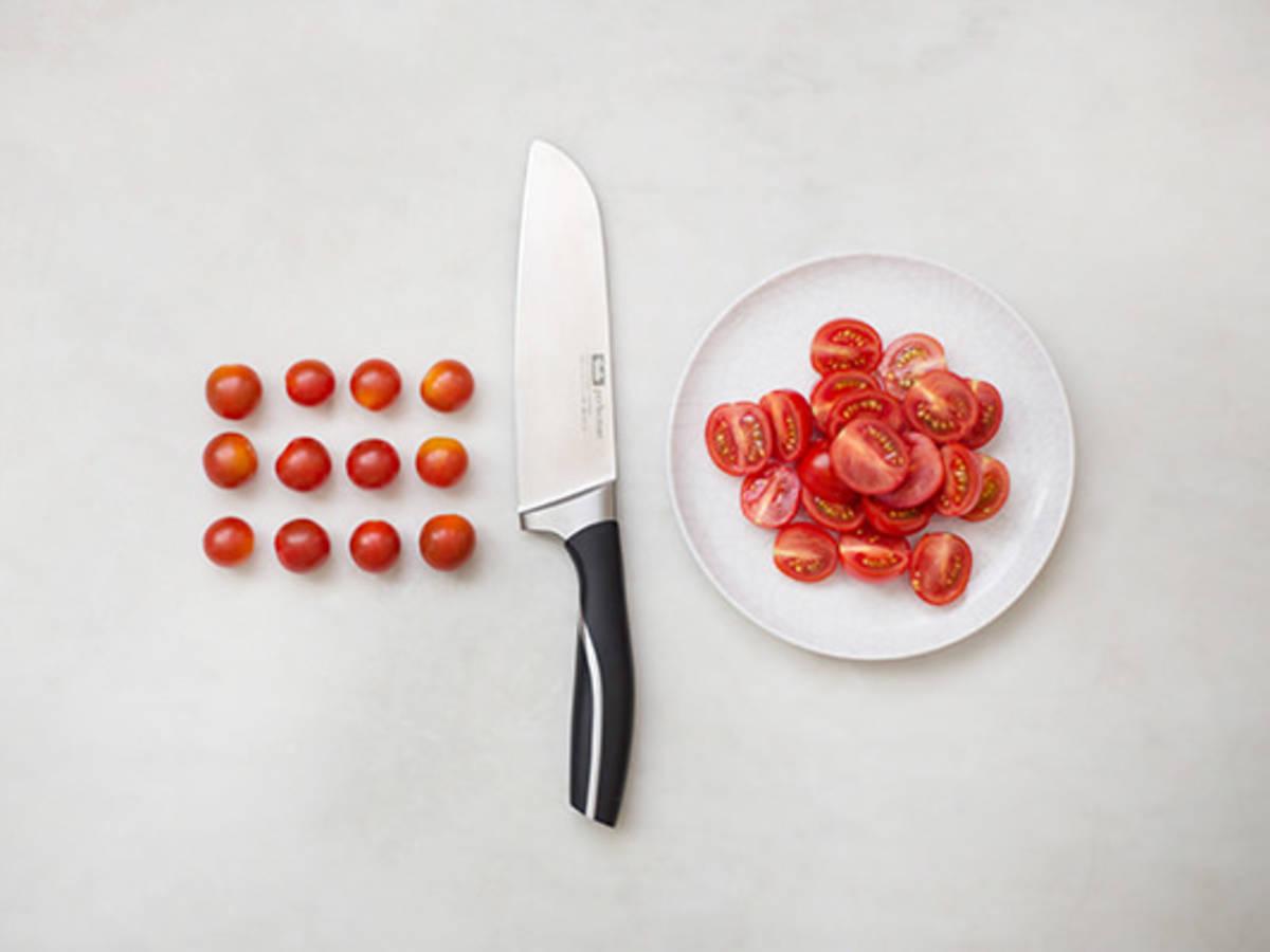 How to halve cherry tomatoes