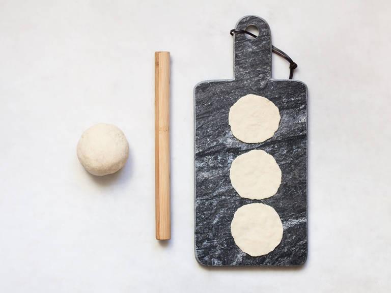 Hausgemachte Dumpling-Teigblätter