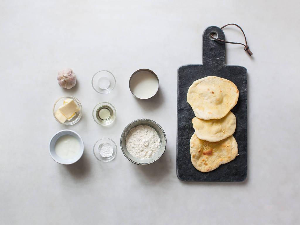 Einfaches Naanbrot zubereiten