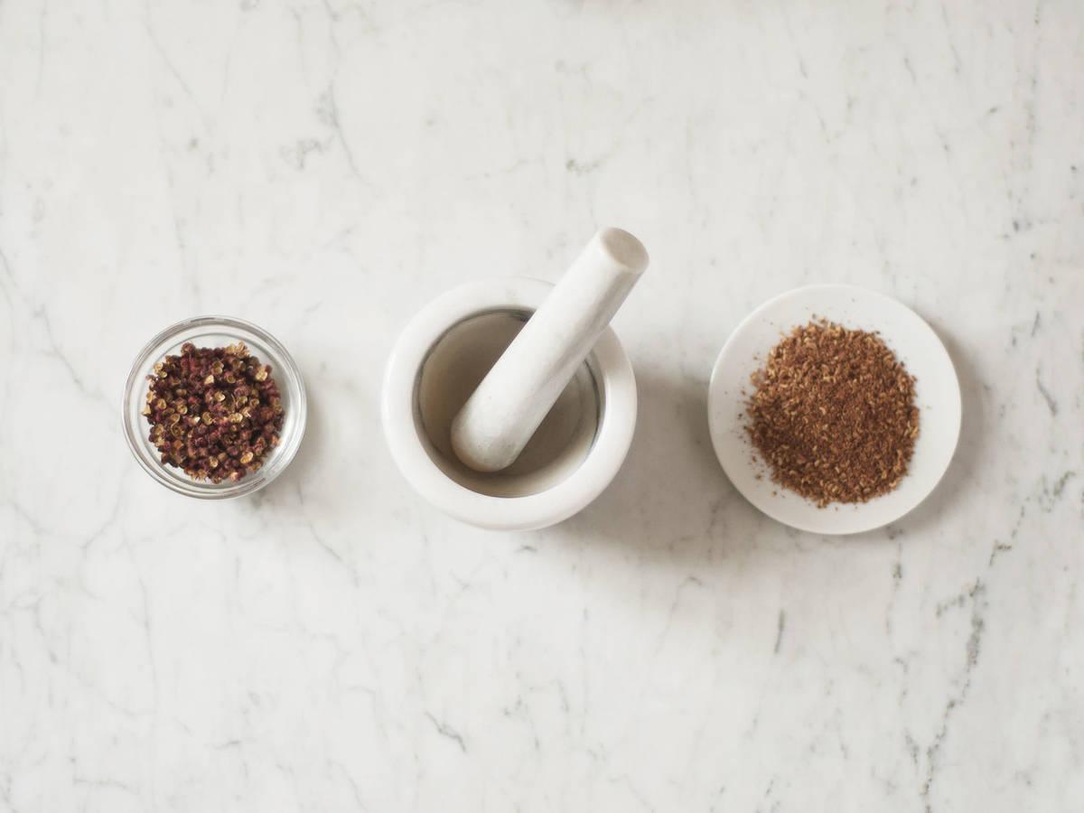 Homemade Sichuan pepper powder