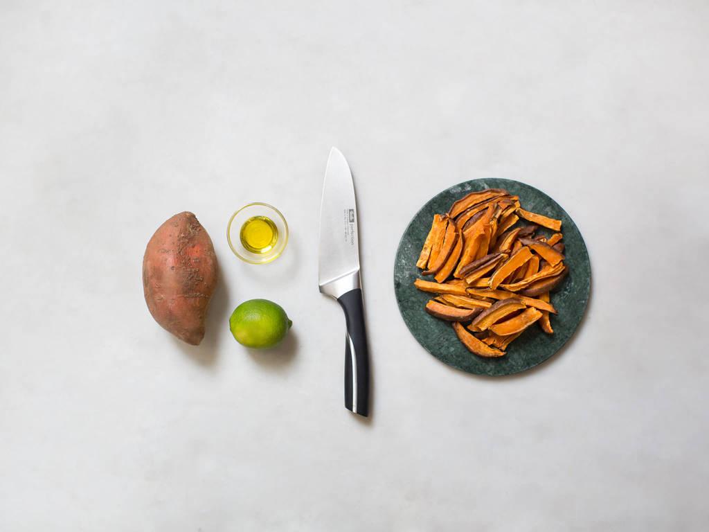 Hausgemachte Süßkartoffelpommes