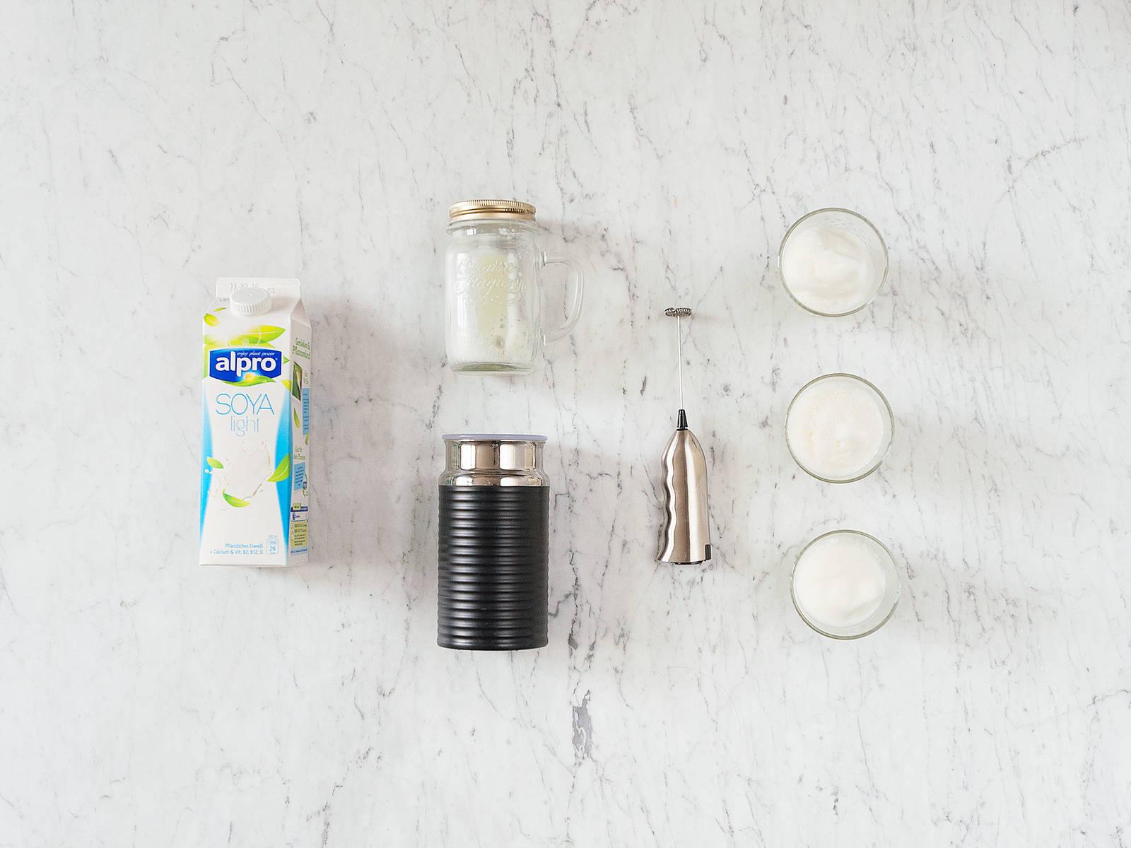 3 Wege zu veganem Milchschaum
