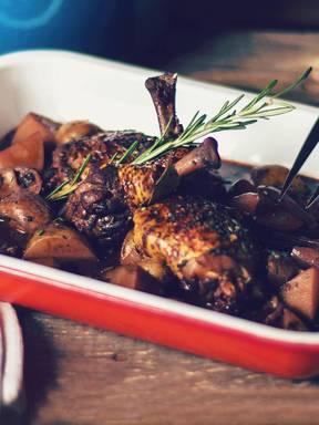 Classic French coq au vin