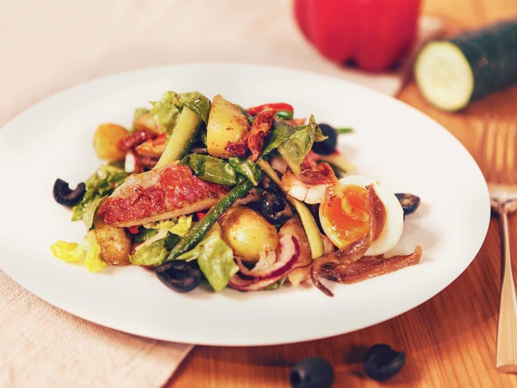 尼斯风味红鲻鱼沙拉