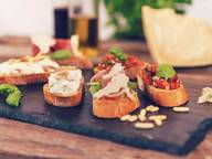 Bruschetta and antipasti crostini