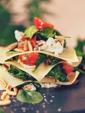 Spinat-Ricotta-Lasagne ohne Backen