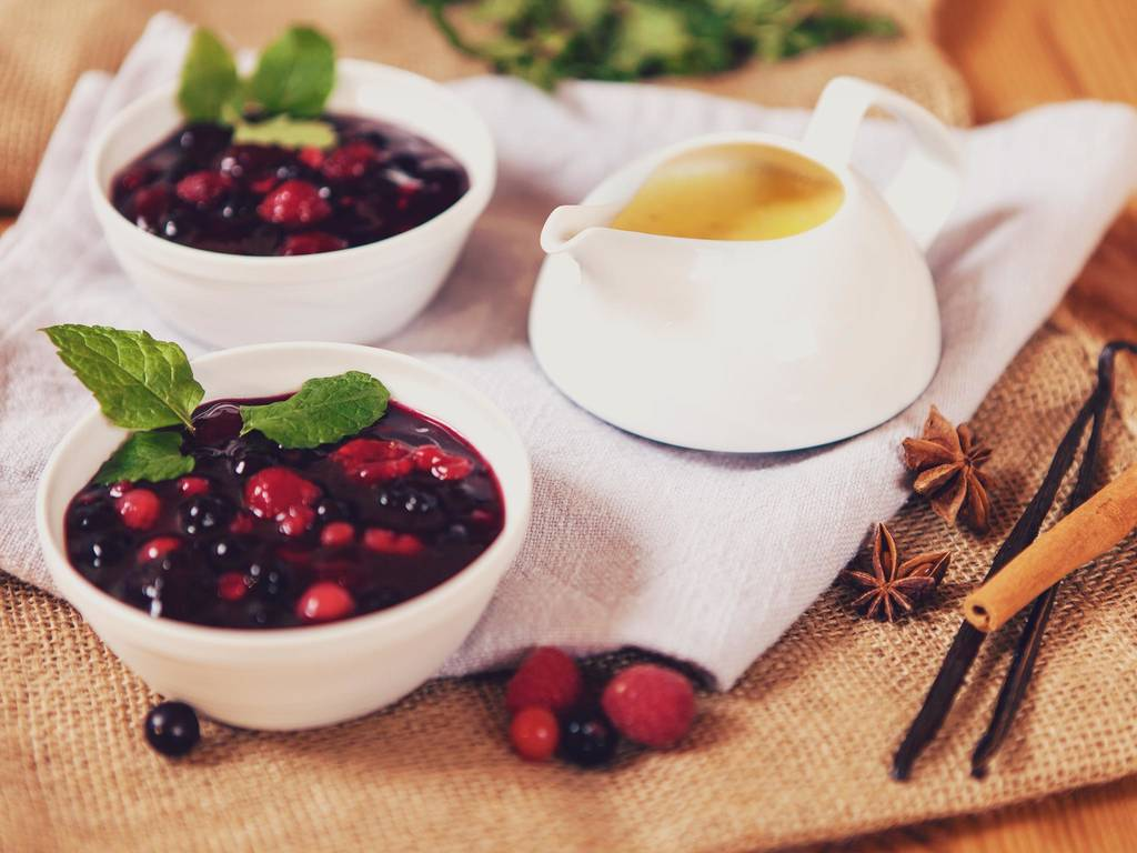 Berlin inspired red berry compote