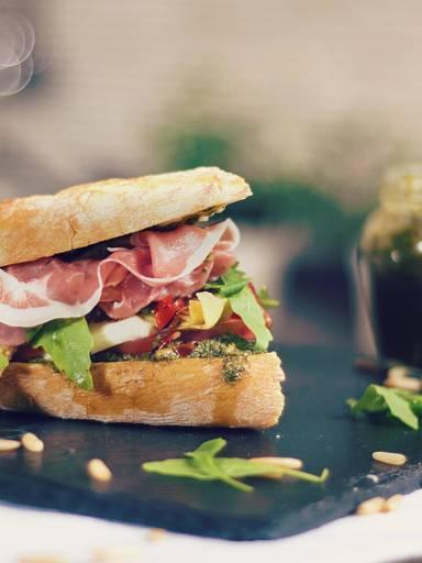 意大利帕玛火腿三明治