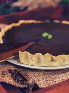 Double chocolate tart