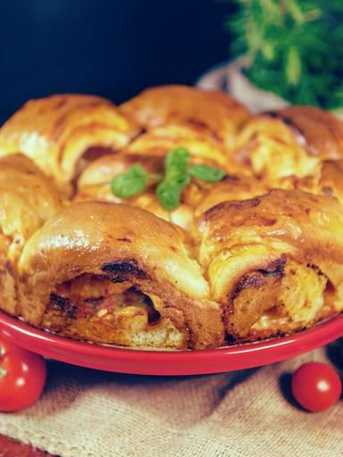 Mozzarella-Tomaten-Wirbel