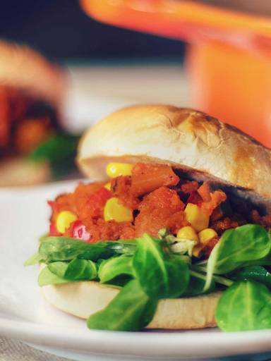 Veganer Sloppy-Joe Burger