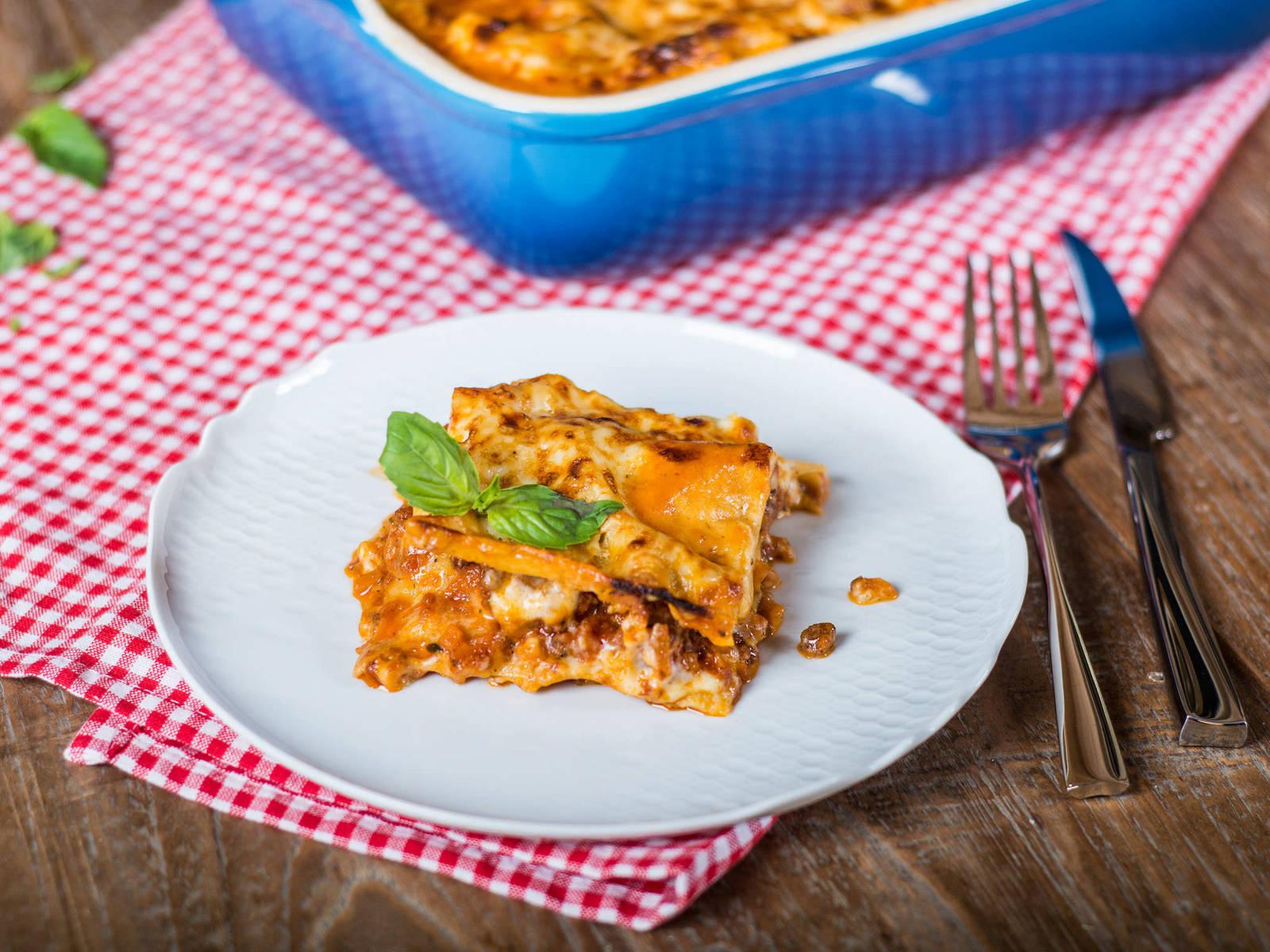 Klassische italienische Lasagne