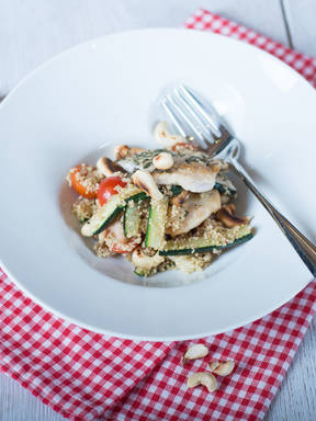 Chicken zucchini couscous salad