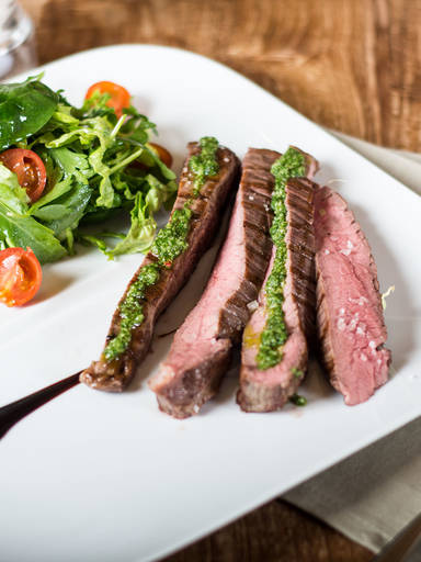Flank steak with Chimichurri