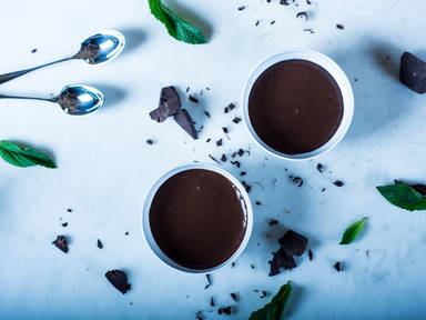 Quick chocolate pudding