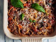 Gratinierte Spaghetti Bolognese