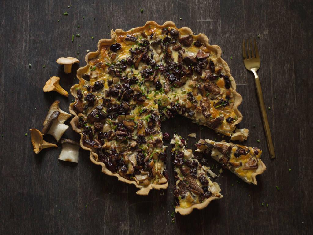 Pilz-Cranberry-Tarte