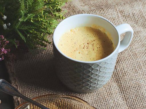 Fresh turmeric latte