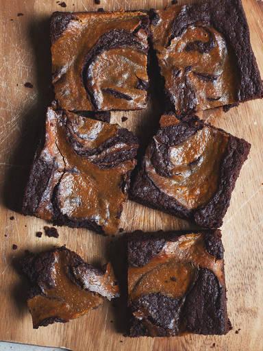 Brownies mit Kürbis-Wirbel