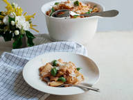 Rigatoni with salsiccia and ricotta