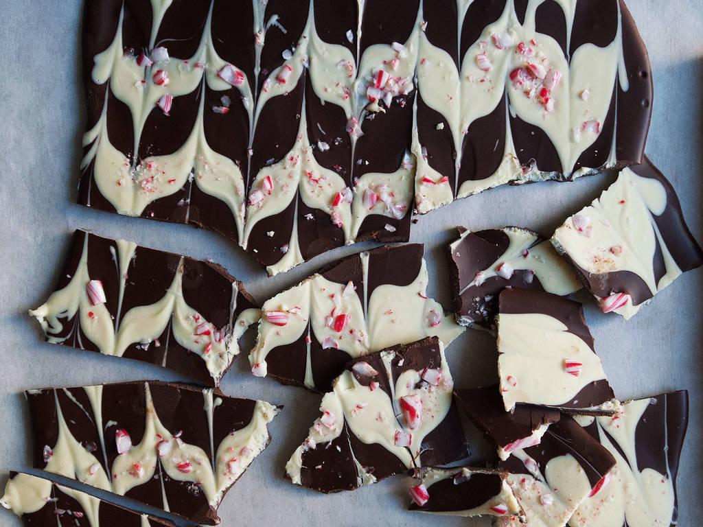Pfefferminz-Schokoladen-Bruch