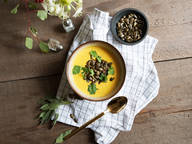 Curried carrot and pumpkin soup