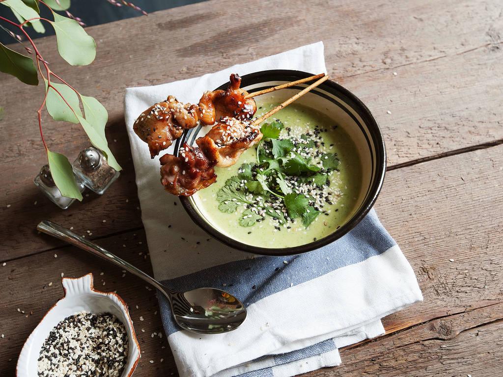 Asiatische Brokkolisuppe