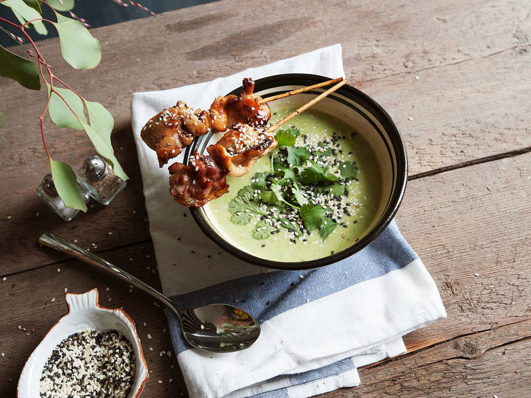 Asian-style broccoli soup