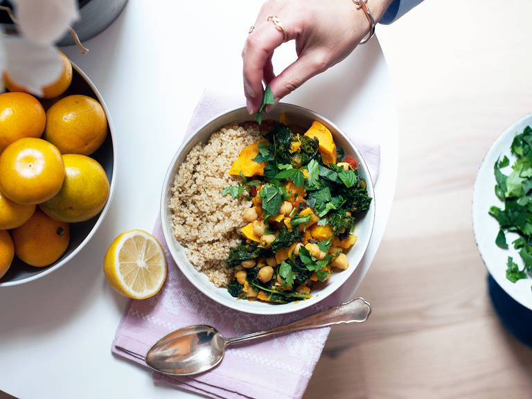 Moroccan-inspired chickpea stew