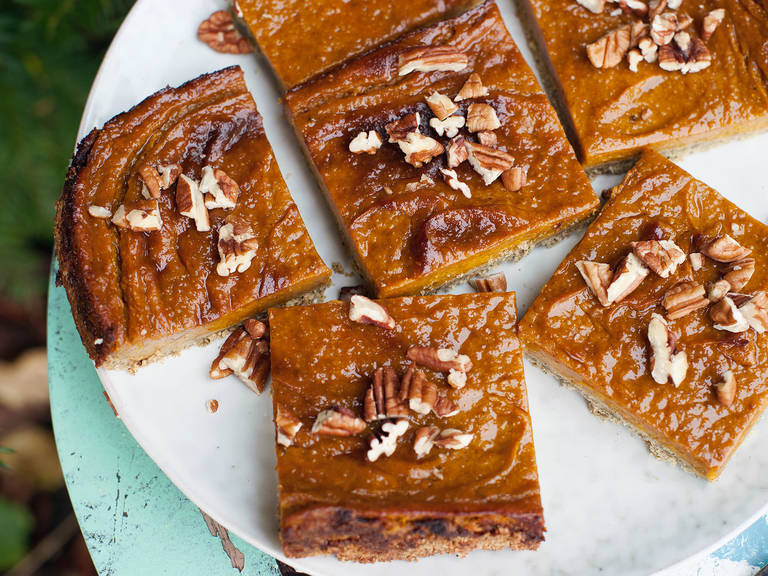 Naturally sweet pumpkin squares