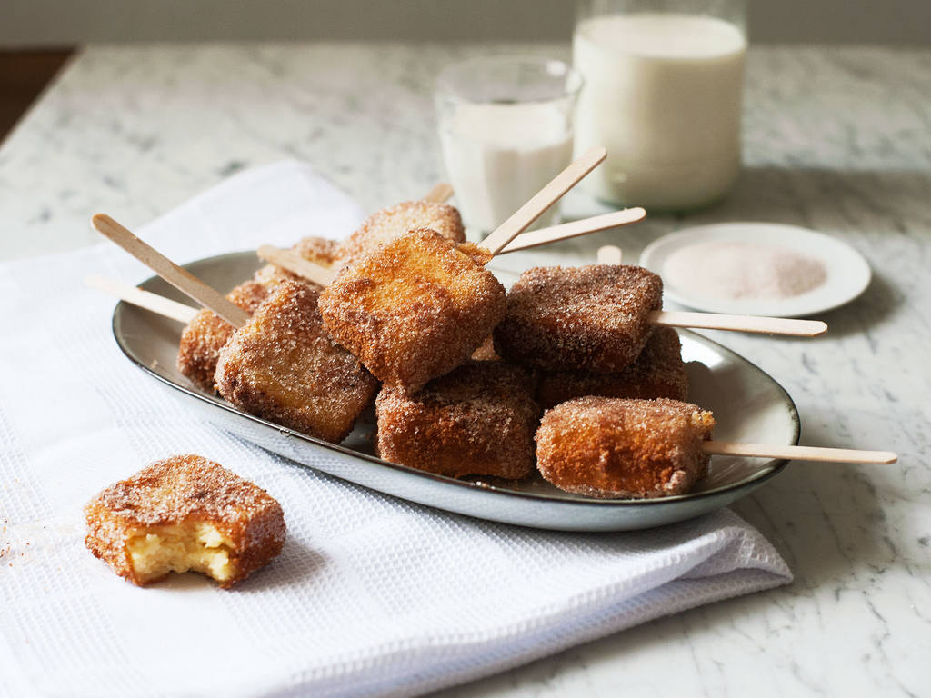 Spanish-style fried custard