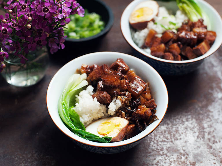 Taiwanese pork belly over rice