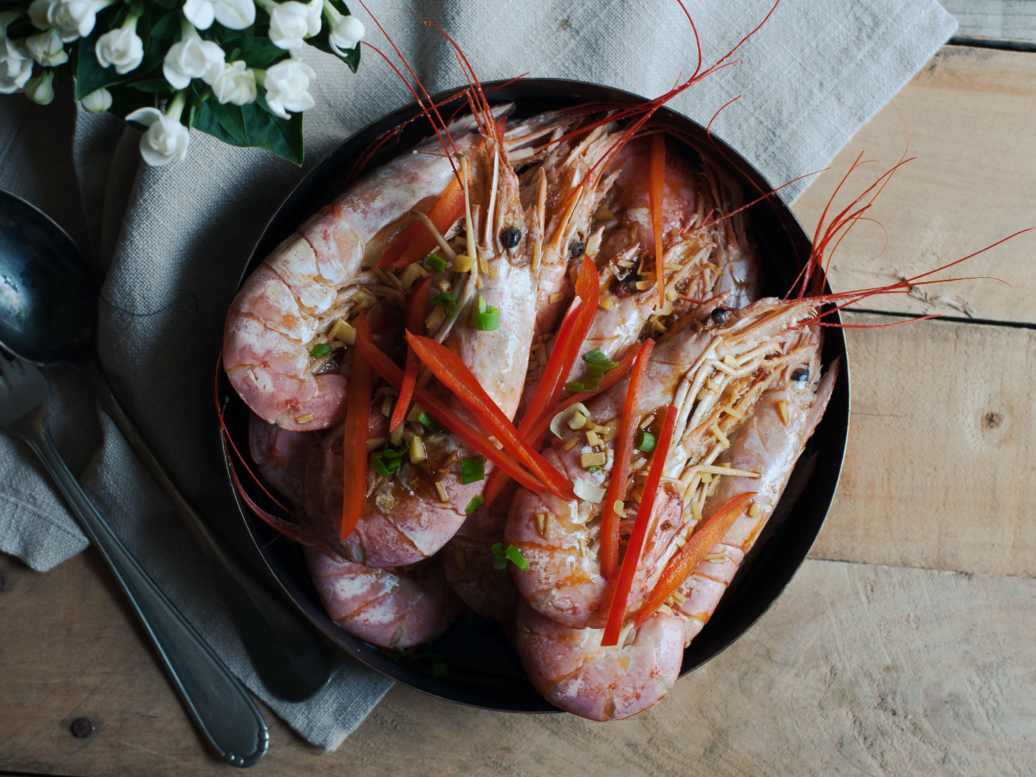 Cantonese Style White Boiled Shrimp Recipe Kitchen Stories