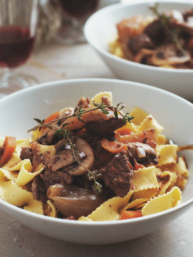 Slow-cooker beef Bourguignon