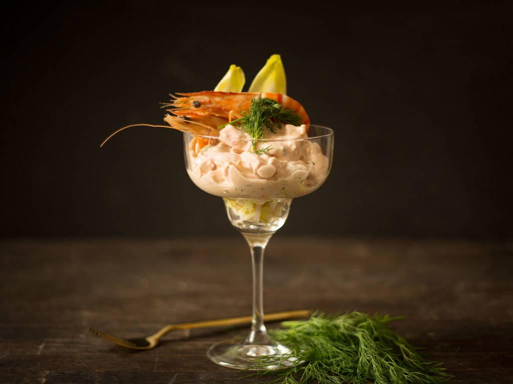 Garnelen in Cocktailsauce