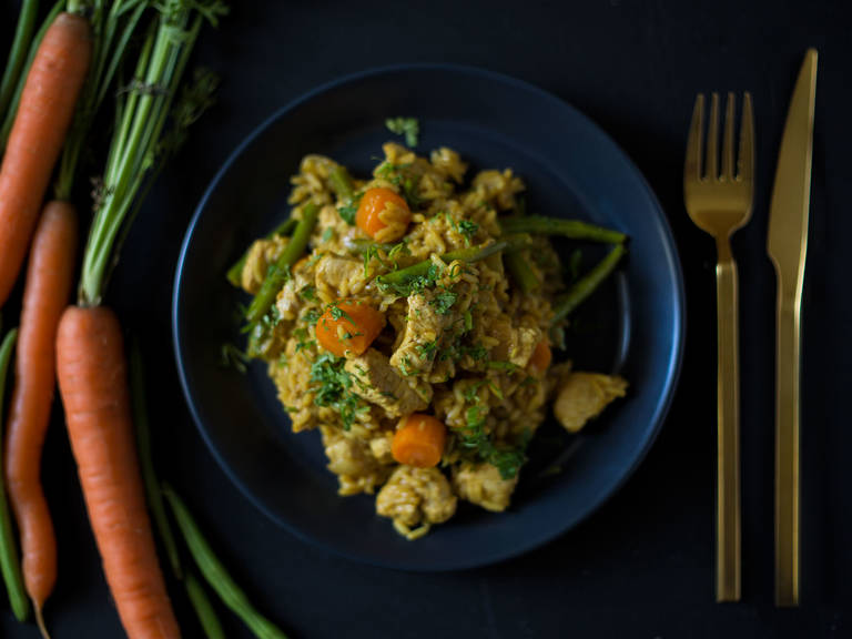 Indian chicken pilaf