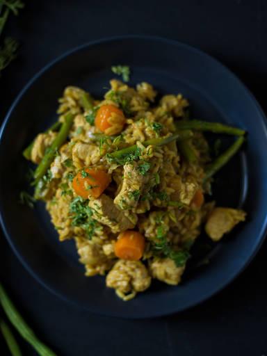 Indisches Hühnchen-Pilaw