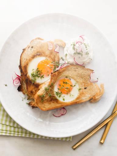 面包片裹鸡蛋