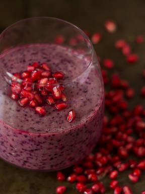 Pomegranate blueberry smoothie