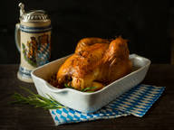 Bavarian roast chicken